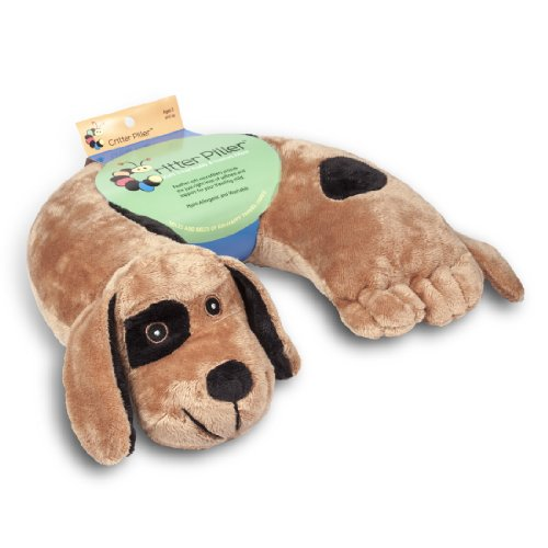 Critter Piller Kid's Neck Pillow, Brown Dog