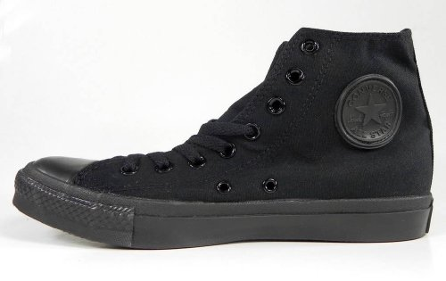 Converse Chuck Taylor All Star Hi Top Black Monochrome Canvas Shoes  men's 12