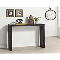Black Finish Modern Console Sofa Entry Table