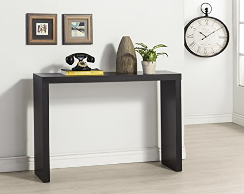 Black Console Table (Black Finish Modern Console Sofa Entry Table)