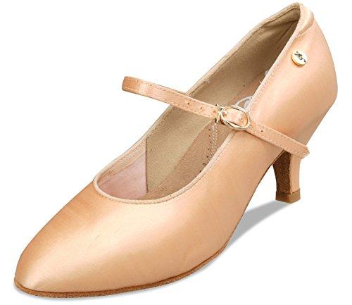 Aplus Dames Femmes Chaussures De Danse De Salon A5024 Avec 2,5 Talon Nu