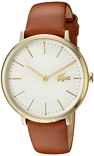 Lacoste Women's Quartz Gold-Tone and Leather Casual Watch, Color:Brown (Model: 2000947)