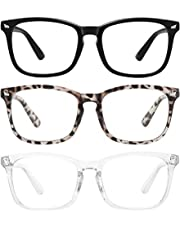 MEETSUN Blue Light Blocking Glasses, Anti Eye Strain Headache (Sleep Better),Computer Glasses UV400 Transparent Lens