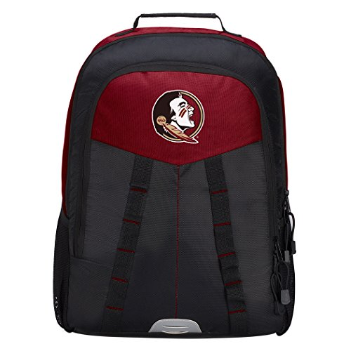 Officially Licensed NCAA Florida State Seminoles Scorcher Sports Backpack, Red (Charm Florida State Logo Seminoles)