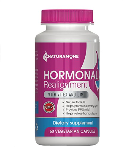 Naturamone - DIM/Vitex Natural Hormone Balance for Women - PMS relief, Estrogen Imbalance, Hormonal Acne, Irregular periods and PMDD - 60 capsules