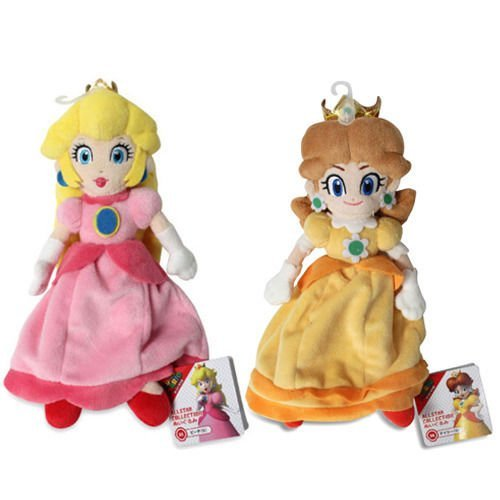 Princess Peach & Daisy Plush (Set of 2) Sanei Super Mario All Star -