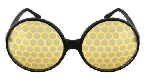 Bug Costume Glasses Yellow For Adults Men and Women by - With Glasses Costumes Female