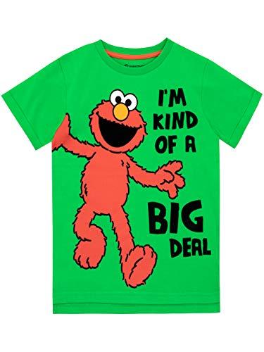 Sesame Street Boys' Elmo T-Shirt Size 8 Green