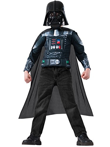 Star Wars Darth Vader Kids Muscle Chest Shirt Kit - Small (4-6)