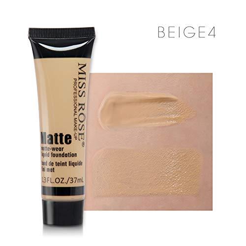 Face Concealer Makeup Natural Moisturizer Brighten Cream Professional Base Concealer Liquid Foundation Primer BEIGE 4