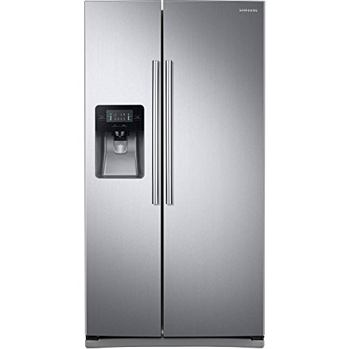 "Price comparison product image Samsung RS25J500DSR 36"" Freestanding Side by Side Refrigerator with 24.52 cu. ft. Capacity"