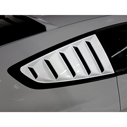 Matte Black GT 5 Vents Style Quarter Side Window Scoop Louvers for Ford Mustang 2015-2017