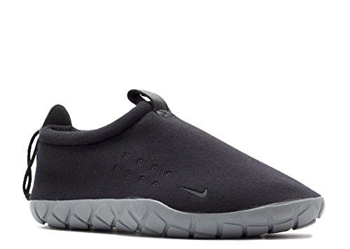 Nike Air Moc Tech Fleece, Scarpe Sportive Uomo Nero (Black / Cool Grey)
