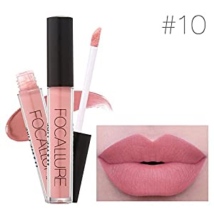 ZasPen(TM) Lip Makeup Long Lasting Lips Matte Lipstick Nude Cosmetic Moistourzing Lip Tint Tattoo Matte Liquid Lip Gloss Make Up [10]