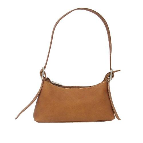 Piel Leather Small Shoulder Mini, Saddle, One Size