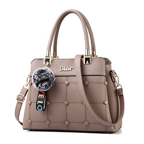 b948c15346 Bag Per Lavoro 92315 Sacchetto Mano Shopping Shopper Khaki Pelle Ufficio  Borse Capacità Donna Spalla Grande ...