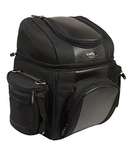 Bag Travel Bar Sissy - Milwaukee Leather SH682-BLK-PCS Black Medium Nylon 1200D Sissy Bar Bag