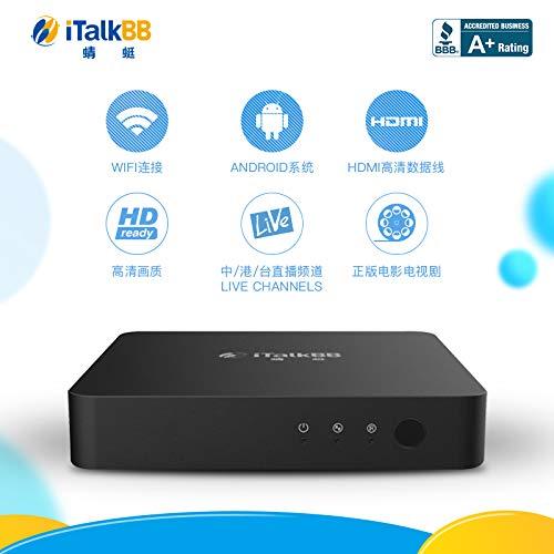 iTalkBB Chinese TV Box- Chinese/Taiwan/Hong Kong Live Channels, HD
