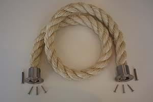 36mm sistema de barrera cuerda Decking cuerda montaje Final cromo satinado Cup Final 1mt largo