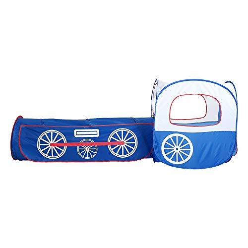 Sviper Kids Play Tunnels Train Play Tent Foldable Portable Indoor Outdoor Yard Tunnel Playhouse for Kids Toddler Pop Up Tunnel Gift Toy by Sviper (Image #1)