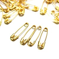Household Mall 3/4-Inch Safety Pins, Gold (1440 Pieces)