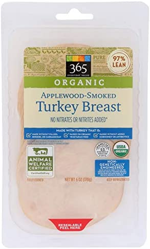 365 Everyday Value, Organic Applewood Smoked Turkey Breast, 6 oz