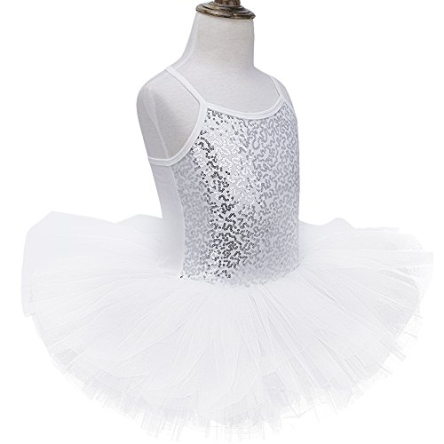 iiniim Girls Sequin Mermaid Ballet Tutu Dress Kids Gymnastics Leotard Skirt Dance wear Party Halloween Costumes Blue 3 Years