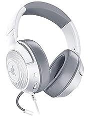 Razer Kraken X Mercury - Ultralicht en comfortabel Gaming Headset voor PS4, Xbox One, Switch Dock, PC en mobiele apparaten dankzij de 3,5 mm-comboaansluiting (7.1 Surround Sound) Wit