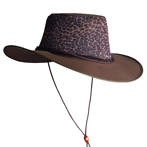 KakaduTraders Australia Summer Canvas Hat with Ventilating Mesh, Leopard -