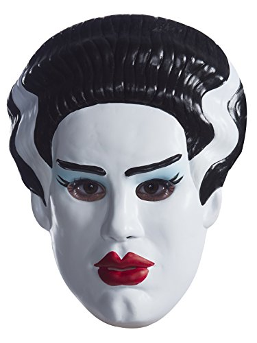 Rubie's Costume Co. Women's Standard Universal Monsters Bride of Frankenstein vacuform Adult mask, as Shown, One Size]()