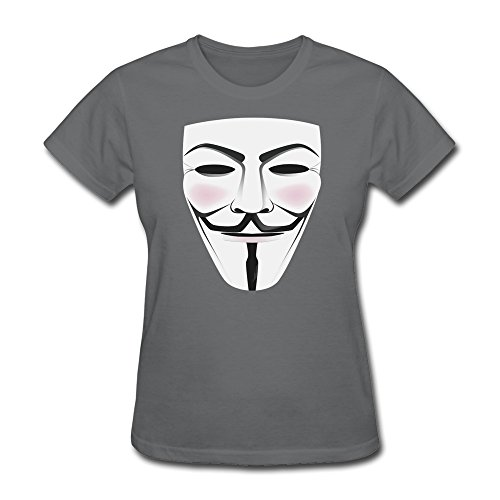 Jiaso Women's V For Vendetta Mask Tshirts Large DeepHeather]()