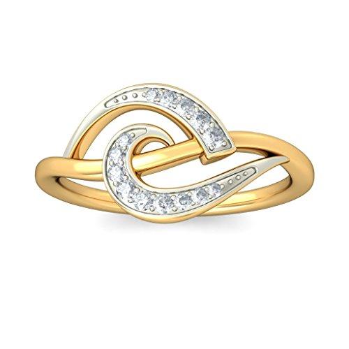 14K Or jaune, 0,13carat Diamant Blanc (IJ   SI) en diamant