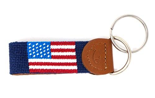 (Needlepoint Key Fob & Key Ring by Huck Venture (American)