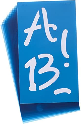 Transparent Plastic Script 1-3 Inches Letters Cosco Stencil Kit 090310
