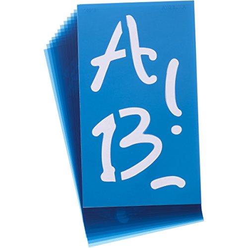 Acme Alphabet Stencils, 4-Inch, Angelina Script, 100-Pack ()