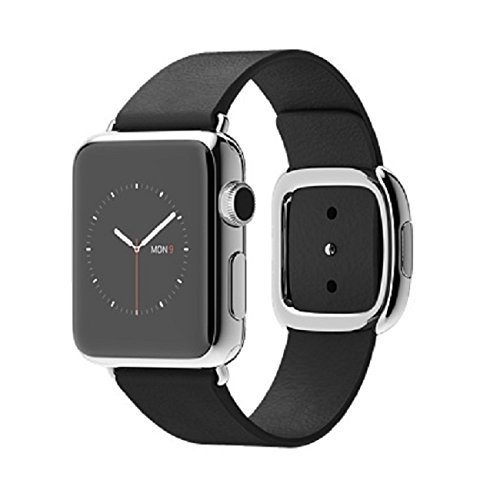 Apple Watch 38mm Stainless Steel Case w/ Black Modern Buckle - Small by Apple