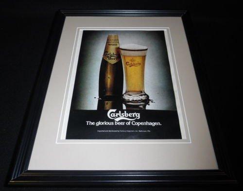 1979-carlsberg-beer-11x14-framed-original-vintage-advertisement