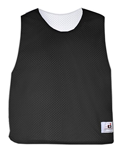 Black/White Adult 2XL/3XL Reversible LAX Practice Jersey Pinnies
