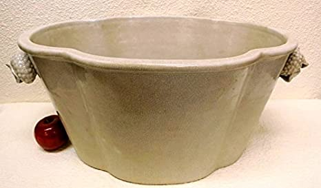 Amazon Com Extra Large White Porcelain Planter 22 Home Kitchen