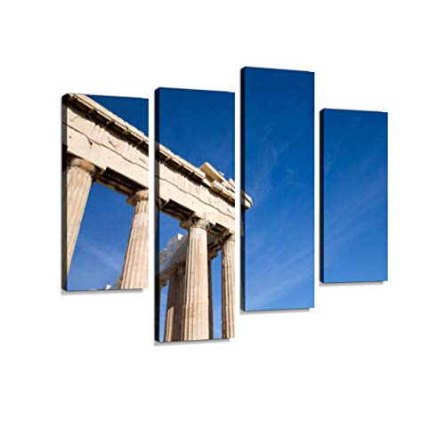- Parthenon on The Acropolis Canvas Wall Art Hanging Paintings Modern Artwork Abstract Picture Prints Home Decoration Gift Unique Designed Framed 4 Panel