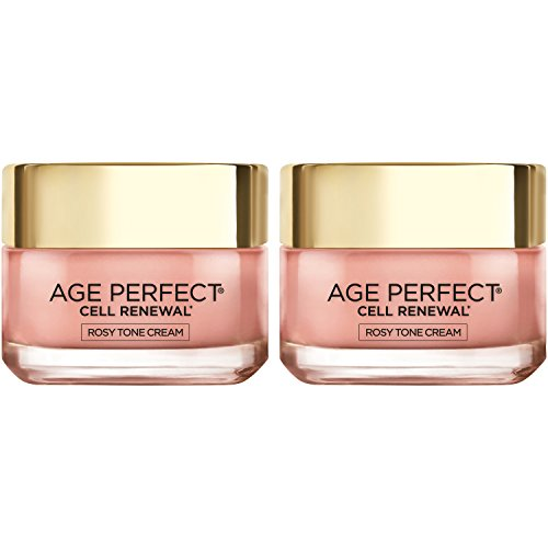 L Oreal Paris Skincare Age Perfect Cell Renewal Rosy Tone Face Moisturizer for Visibly Younger Looking Skin, 2 count