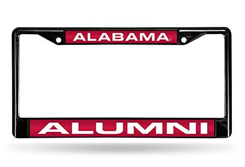 Alabama Crimson Tide Alumni Laser Cut Inlaid Standard Chrome License Plate Frame ()