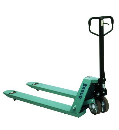 Wesco Industrial Products 272777 CPII Pallet Truck with Handle, Moldon Polyurethane Wheels, 5500 lb. Load Capacity, 63