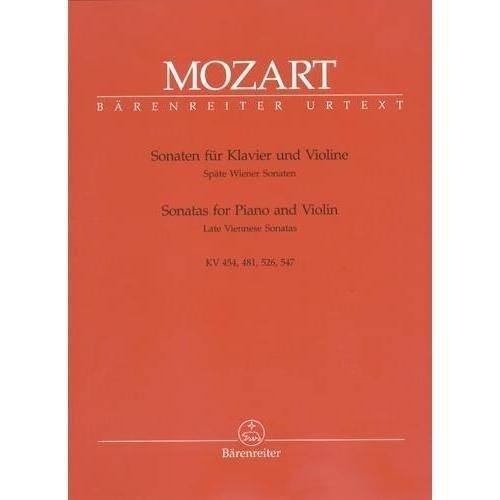Viennese Sonatas - Mozart W.A. Sonatas for Piano and Violin Volume 3: Late Viennese Sonatas - edited by Eduard Reeser