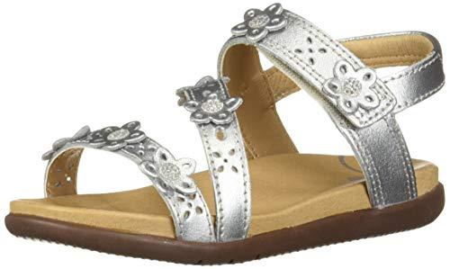 Stride Rite SRTech Evie Girl's Embellished Sandal, Silver 13.5 M US Little Kid