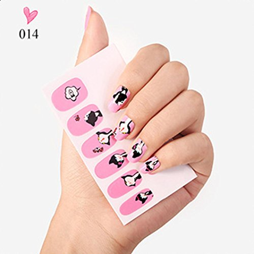 ❤JPJ(TM)❤️ Nail Art Stickers,Stickers for Nail Art Design,Nail Art Transfer Stickers Shining Design Manicure Tips Decal Tool Best Decoration For Your Nails (Halloween Black N White Nails)