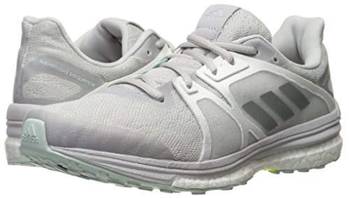 adidas Women's Supernova Sequence 9 W Running Shoe, Solid Grey/Matte Silver/White, 8 M US