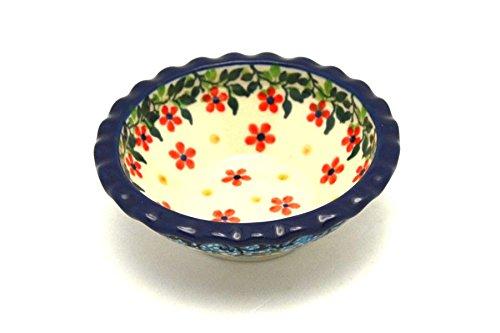 Polish Pottery Dish - Food Prep - Round - Cherry Jubilee