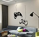 : Vinyl Wall Decal Joystick Video Game Play Room Gaming Boys Stickers VS652