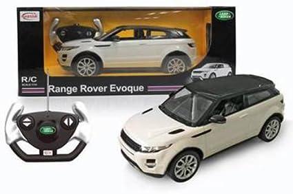 Licensed 1:14 Scale RC Car With Remote Range Rover Evoque White